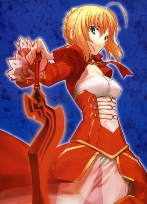 yande 123802 cleavage fate extra fate stay_night saber_extra simosi takeuchi_takashi type-moon