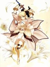 yande 152578 fate stay_night fate unlimited_codes moriya saber saber_lily sword takeuchi_takashi type-moon