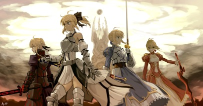 yande 192084 armor fate stay_night g_scream saber saber_alter saber_extra saber_lily sword thighhighs