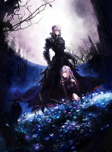 yande 192764 dark_sakura fate stay_night matou_sakura saber saber_alter stu_dts