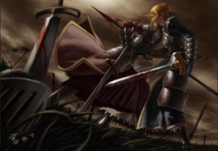yande 209195 armor blood fate stay_night feitie mordred_(fsn) saber sword