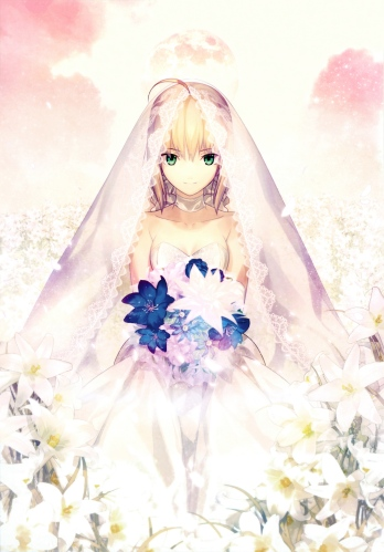 yande 216285 dress fate stay_night saber takeuchi_takashi type-moon wedding_dress