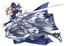 yande 219840 doa_(pixiv7798) dress fate stay_night fate zero saber sword