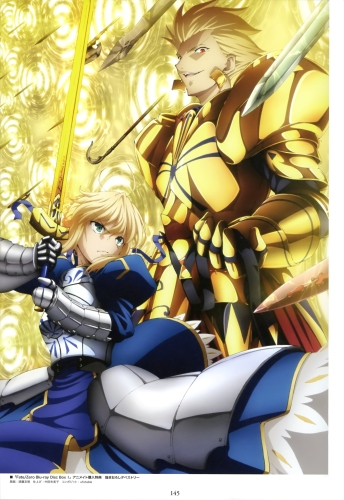 yande 232036 armor fate stay_night fate zero gilgamesh_(fsn) saber sudou_tomonori sword