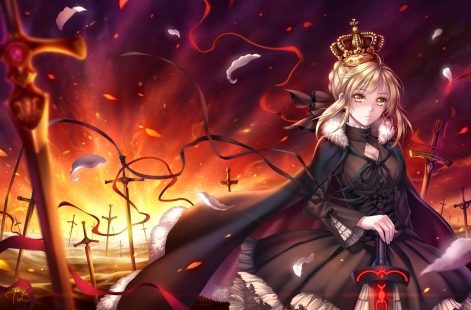 yande 234902 dress fate stay_night fate zero saber saber_alter sword tid