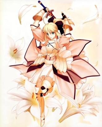 yande 49138 fate stay_night fate unlimited_codes moriya saber saber_lily sword takeuchi_takashi type-moon
