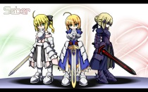 yande 99836 armor chibi fate stay_night saber saber_alter saber_lily sword u-ka wallpaper